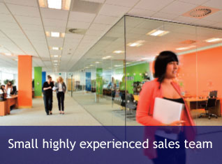 Small highly experienced sales team