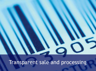 Transparent sale and processing